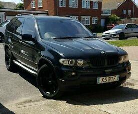 BMW X5 3.0D DIESEL M SPORT / XENONS / FULL BLACK / LEATHER / LONG MOT / ANDROID SAT NAV
