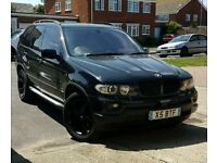 BMW X5 3.0D DIESEL M SPORT / XENONS / FULL BLACK / LEATHER / LONG MOT / ANDROID SAT NAV