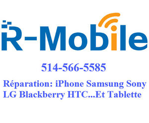 Réparer iPhone Samsung LG Blackberry Sony HTC repair unlock