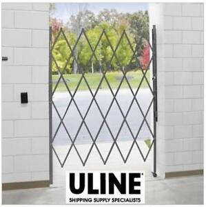 NEW ULINE FOLDING SECURITY GATE H-4890 136862552 7'-8'x6'