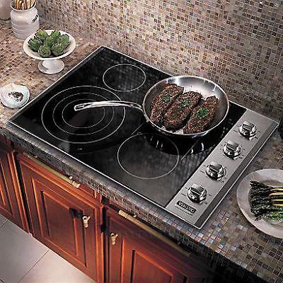 "Viking 500 VEC5366BSB 36"" Built In Stainless 5 Burner Electric Cooktop OB #29050"