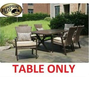 NEW HAMPTON BAY DINING TABLE 189200381 THOUSAND OAKS PATIO FURNITURE