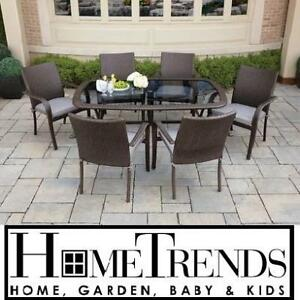 NEW HOMETRENDS PATIO DINING TABLE HTS4120516 134703393 TUSCANY - WICKER - BACKYARD DINING - OUTDOOR LIVING