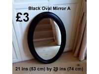Black Oval Mirror - Details on Photo