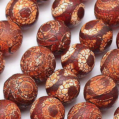Tibet DZI Achat Buddha Perlen 8mm Natur Edelstein Rund Tibetanischer Beads G789