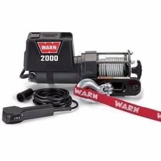 Warn 12v utility winch 10.7m wire rope, dc2000-92000