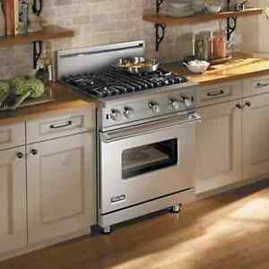 Barely used Viking/Brigade gas range, stove, oven