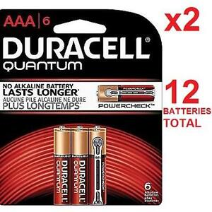 12 NEW DURACELL QUANTUM AAA BATTERY QUANTUM AAA - EXP. DEC/2023 BATTERIES 98885173