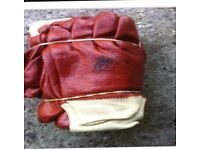 New red PVC Coated Knitted Wrist Rubber Work Gloves