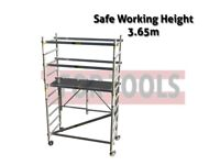 JEFFERSON 3.65M T90 SCAFFOLDING TOWER MINI TOWER BASE PACK & GUARDRAIL PACK