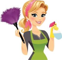 Female looking for cleaning jobs