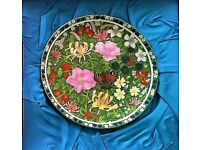 Coalport Plate Fine Bone China Heathfield Design:Somerset Meadow Edition: 239 Ornament CHRISTMAS