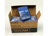 10 x 40min. Mini Sony DV Tapes UNUSED
