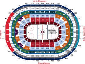 Canadiens vs FLO 19/09/18 2 billets ROUGE A PREMIUM