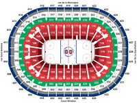 ***2 tickets Canadiens vs. Rangers 5 rows behind the visitors**