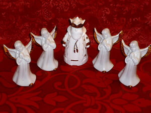 4 Porcelain Angels and King ... New .. boxed Cambridge Kitchener Area image 1
