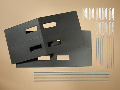 Roof Drain Kit (Auhagen kit 80301 NEW HO 2 COMPLETE ROOFS WITH SKYLIGHTS GUTTERS AND DRAIN PIPE)