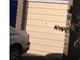 Old metal Up & Over Garage Door now redundant for scrap or restoration.