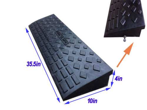 TECHTONGDA Heavy Duty All Weather Industrial Loading Rubber Curb Ramp