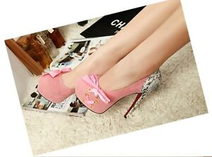 Hot sexy women serpentine bow ultra-high high heels 3 Color
