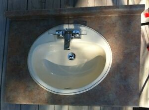 Sink, faucet and counter top