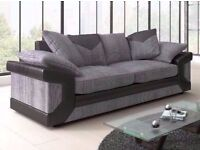 Unwanted Black and Grey New 3 Seater Sofa