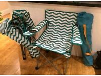 3 camping chairs - buy together or seperate (£8)