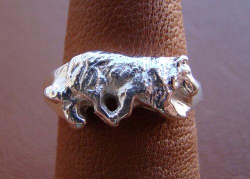 Sterling Silver Border Collie Herding Study Ring