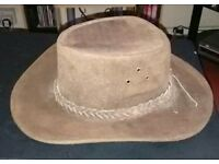 Leather Australian outback hat size small