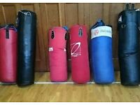 Six punch bags