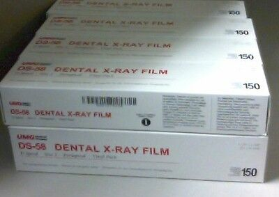 3 Boxes Of Dental Umg Ds-58 Size 2 D Speed Adult X-ray Film 150box Vinyl Packin