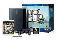 PS3 500gb GTA5 edition like NEW!!