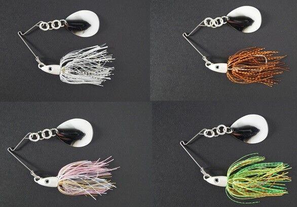 1 Ounce Spinnerbait JUMBO Blade Bass Bait 4color 4pk of Cyclebait SwingBacks