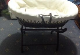 Moses Basket with rocking stand used