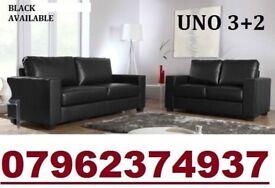 Pre Xmas 3+2 Italian leather sofa black or brown