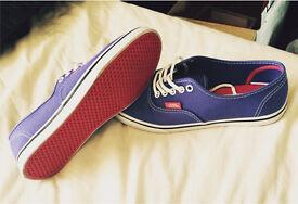 Purple vans trainers
