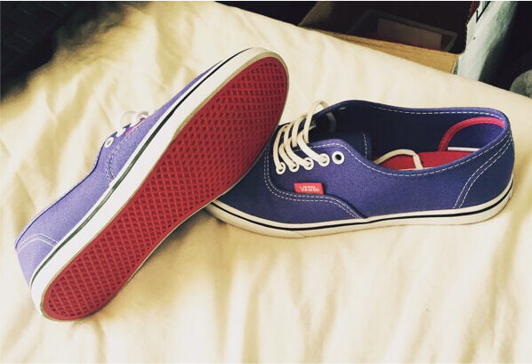 Purple vans trainers