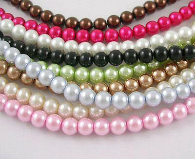 Wholesale Beads Bulk Glass Pearls Assorted Lot 8mm 440pcs](Bulk Pearls)