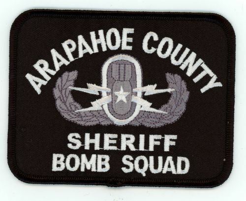 ARAPAHOE COUNTY SHERIFF BOMB SQUAD COLORADO NEW SHOULDER PATCH POLICE