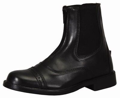 Childs Zip Paddock Boot - Tuffrider Children's Starter Front Zip Paddock Riding Boots with Punched Toe Cap