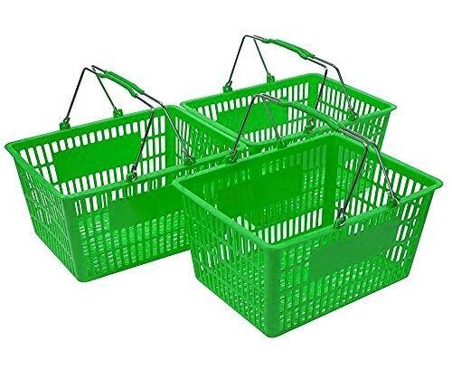 NEW Shopping Basket Set set of 3 Green