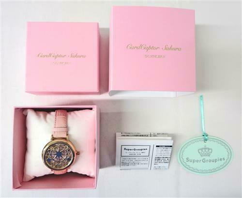 Card Captor Sakura Kinomoto Sakura model Wrist Watch Super Groupies Used F/S