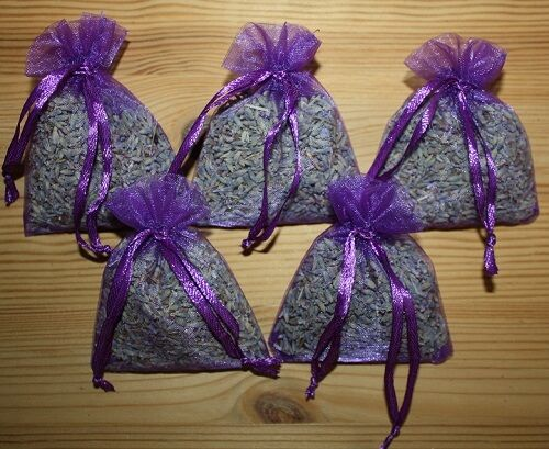 5 Lavendelsäckchen duftstarker Lavendel Lavendelblüten Duftsäckchen Geschenk II