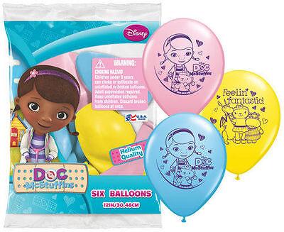 12 Doc McStuffins BALLOONS Princess Birthday Favors Prizes Party Decorations (Doc Mcstuffins Balloons)