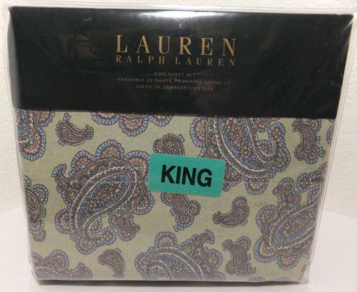 Ralph Lauren Paisley King Sheet Set Ebay