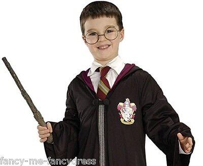 Jungen Mädchen Harry Potter Zauberstab & Brillen Büchertag Kostüm Kleid Outfit