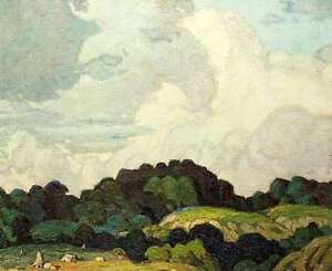 """A.J. Casson """"Sunlit Hill"""" Lithograph - Appraised at $750"""