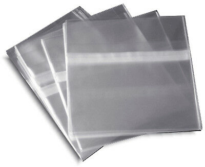 100-pak Resealable Plastic Wrap Cd Sleeves For 10.4mm Jewel Cases
