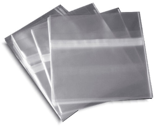 100Pak RESEALABLE Plastic Wrap CD Sleeves for 104mm Jewel Cases