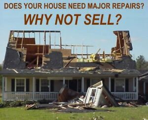 WE BUY UGLY, DAMAGED AND FIXER UPPER HOMES